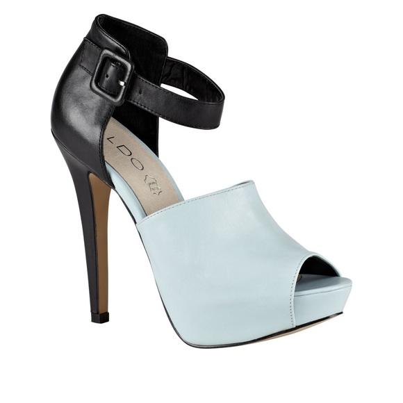 Blue & Black Also Heels